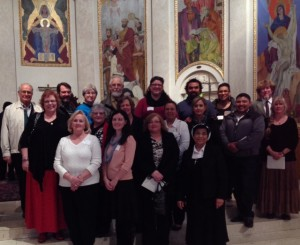 RCIA Class of 2014 with their sponsors at the Portland Cathedral